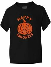 Halloween Pumpkin Fancy Dress Girls Boys T-Shirt  Age 1-13