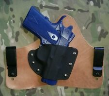 """1911 3"""" (Micro sized) Hybrid IWB holster (with Horse Hide Option)"""