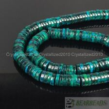 Chrysocolla Gemstone Heishi Loose Spacer Beads 16 inches Strand 2mm 3mm 4mm 8mm