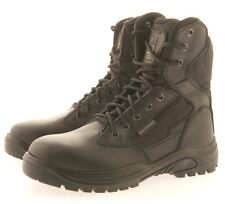 MENS SWAT MILITARY COMBAT POLICE WORK ARMY SAFETY BOOTS BLACK LEATHER SIZE 7-11