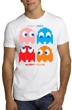 PacMan Ghosts Retro Video Arcade T Shirt Inky Blinky Clyde *ALL SIZES & NEW*