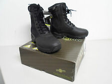 Interceptor Work Uniform Biker Combat Boot Paratrooper Side Zipper Black leather