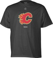 Calgary Flames Reebok NHL Black Primary Logo T-Shirt