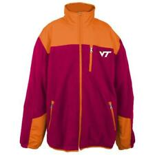 Virginia Tech Hokies NCAA Poly Dobby Full Zip Polar Fleece Jacket