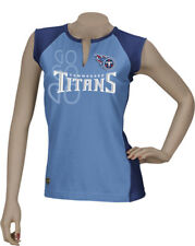 Tennessee Titans Women's Reebok Two-Toned Split Neck T-Shirt