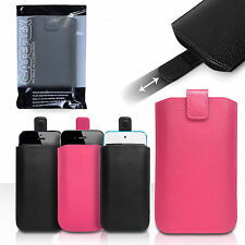 Caseflex Accessories Various Apple Phones PU Leather Pull Tab Pouch Case Cover