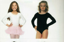 Child Body Suit Dance Leotard Opaque Pink White or Black M L XL Leg Avenue 73011