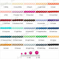 4mm/6mm/8mm/10mm Loose Round Glass Pearl Spacer Beads Charms 30 Colors Wholesale