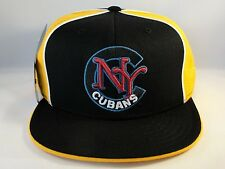 New York Cubans Negro League Fitted Hat Cap 360 Rotating Bill Black Gold