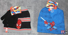 Marvel SPIDERMAN Spider-Sense Boys Winter Hat Beanie & Gloves or Mittens ~ NWT