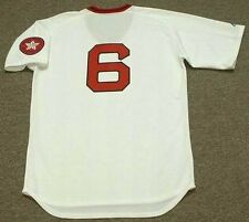 RICO PETROCELLI Boston Red Sox 1975 Majestic Cooperstown Home Baseball Jersey