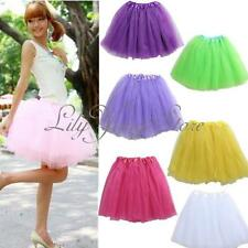 Pretty Women Girl Elastic Stretchy Tulle Dress Teen Adult Tutu 3 Layer Skirt