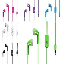 Color 3.5mm Heaset Headphone Earphones with Mic For iPhone/Samsung/HTC/Motorola