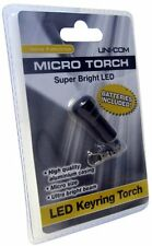 4 COLOURS TO PICK FROM SUPER BRIGHT LED MICRO KEYRING TORCH BATTERIES INC-59769