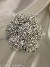 Brooch bouquet  made in Crystal or Pearl  with several colour options
