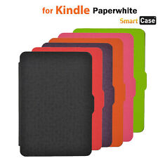 CROSS PATTERN MAGNET LEATHER CASE COVER FOR AMAZON KINDLE PAPERWHITE AUTO SLEEP