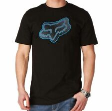 FOX RACING MENS SYNDICATE TEE T-SHIRT motocross mx bmx adult new BLACK BLUE HEAD