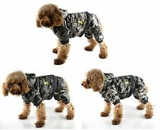 Classic Camouflage Four Legs Dog Coat with Detachable Pants *Many Colour & Size*