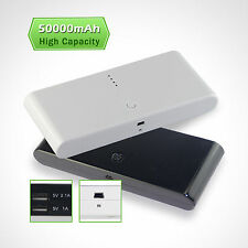 50000mAh Power Source Bank Battery Portable USB Charger For iPhone LG Blackberry