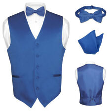 Men's Dress Vest BOWTie ROYAL BLUE Bow Tie Set for Suit or Tuxedo