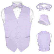 Men's Dress Vest BOWTie LAVENDER PURPLE Bow Tie Set for Suit or Tuxedo