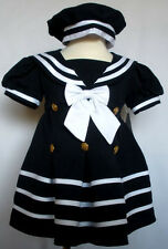 New Baby Girl Toddler Easter Formal Nautical Sailor Dress sz: S M L XL 2T 3T 4T