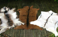 GENUINE GOAT SKIN HIDE RUG SUPERSOFT UNIQUE PATTERNS*
