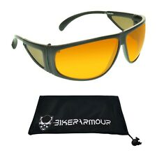 Blue Blocking Sunglasses w/ HD High Definition Vision Amber Lenses for Driving