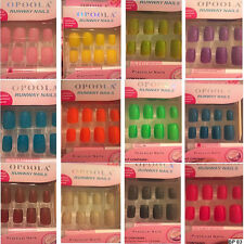 12 PACK RUNWAY SPARKLE GLITTER  FELT NAIL FALSE FAKE FRENCH NAILS + GLUE + FILE