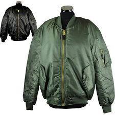 MA1 Flight Bomber Jacket in Black and Olive Sizes S-XXXL