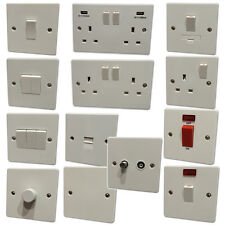 SPECIAL OFFER - Light Switches & Plug Sockets White Plastic