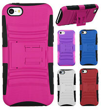 For Apple iPhone 5C HYBRID KICK STAND Rubber Silicone Case Phone Cover