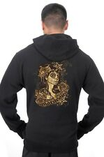 Men's Vintage Style Drop Dead Gorgeous Pin Up Girl Sugar Skull Pullover Hoodie