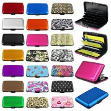 Color Pocket Business ID Credit Cards Wallet Holder Case Box Aluminum Metal