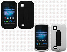 AT&T Avail 2 Go Phone IMPACT Hard Rubber Case Phone Cover Kickstand Accessory