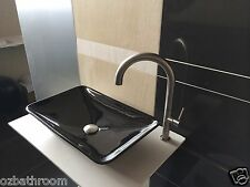 Free ship Slim Square Bowl counter top Basin Vanity Sink with pop up plug waste