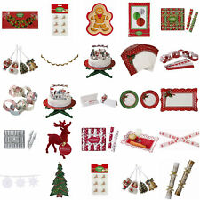 TALKING TABLES JOLLY HOLLY VINTAGE CHRISTMAS PARTY XMAS TABLEWARE DECORATIONS
