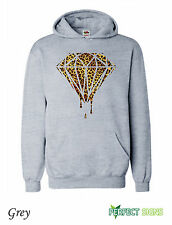 DOPE DIAMOND LEOPARD PRINT BLOOD OFWG TAYLOR GANG Hoodie S - 5XL  - Grey
