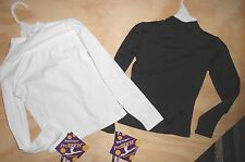 NWT LongSleeve Turtleneck pullover chld szs black white Microfiber Body Wrappers