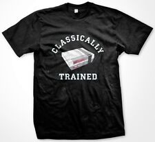 Classically Trained Funny Old School Video Game Nintendo NES -Men's T-shirt