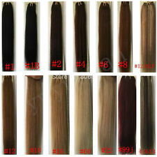 """18""""-24"""" Remy Brazilian AAAA Grade Straight Human Hair Sewed Weft Extensions 100g"""