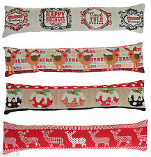 Christmas Tapestry Draught Excluder, Xmas Draught Excluders, Machine Washable