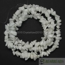 "Natural White Alabaster Gemstone 5-8mm Chip Nugget Loose Spacer Beads 35"" Strand"