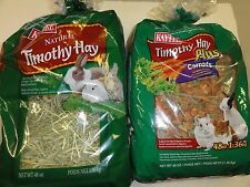 Kaytee 48oz Timothy Hay (Your Choice) (Natural or Plus w/Carrot) Ships Free