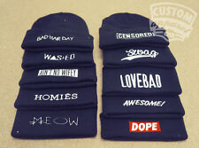 BEANIE HAT DOPE HYPE WASTED YOUTH COMME DES F*CKDOWN HOMIES T SHIRT SNAPBACK