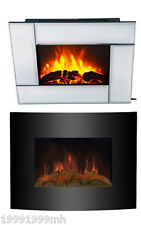 HomCom Electric Fireplace Wall-Mounted 1500W Adjustable Heat 5-Level Flame
