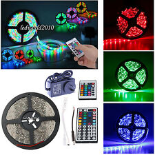 5M 10M 15M 3528 RGB/Warm/Day White Waterproof LED Strip 44key Remote Fairy Light