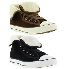 Converse Boots All Star CT Super Hi Suede Shearling Kids, Laces, Sizes UK 3 - 5