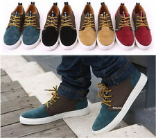 fashion Men's Stylish Casual Flat Shoes LACE UP Frosted Sneakers loafer shoes