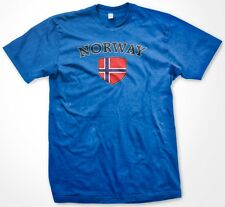 Norway Country Crest Flag Country Colors Nationality Ethnic Pride -Mens T-shirt